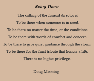 Being There Poem